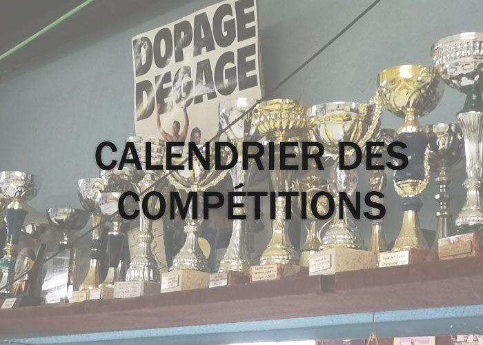 calendrier competitions escrime